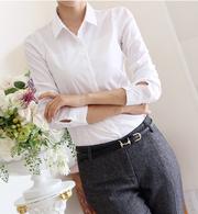 Белая рубашка,  классика,  размер 44-46