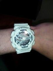 часы g-shock protection белые